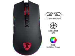 MOTOSPEED V70 USB Wired 12000DPI Gaming Mouse Mice Support Macro Programming, Adjustable RGB Backlit, 8 Adjustable DPI Mouse for PC, Laptop, Apple MacBook