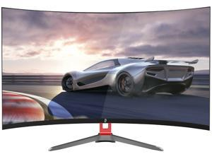 """32"""" Curved PC Gaming Monitor, 165hz-240hz 2ms response, Full HD 1920*1080 R1800 Computer Monitor, Amd Freesync Premium PC Display , Low-Blue Light & Flicker-Free, ultrawide monitor , Title adjustable"""