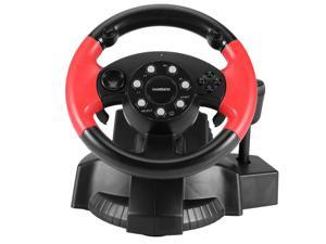 Driving Force Racing Wheel ,  PC Game Controller Joystick Simulator  Steering  wheel ,  With Responsive Pedals  For Windows PC, PS3, PS4, Xbox One, Xbox Series S/X, Nintendo Switch (Black )