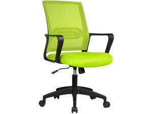 GTPLAYER Office Chair Ergonomic Desk Chair Mesh Computer Chair Mid Back Mesh Home Office Swivel Chair, Modern Executive Chair with Armrests Lumbar Support (Green)
