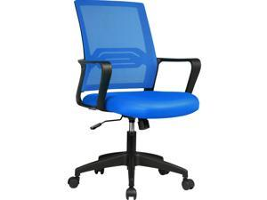 GTPLAYER Office Chair Ergonomic Desk Chair Mesh Computer Chair Mid Back Mesh Home Office Swivel Chair, Modern Executive Chair with Armrests Lumbar Support (Blue)