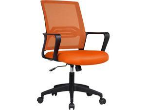 GTPLAYER Office Chair Ergonomic Desk Chair Mesh Computer Chair Mid Back Mesh Home Office Swivel Chair, Modern Executive Chair with Armrests Lumbar Support (Orange)