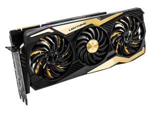 MSI GeForce RTX 2080 Ti LIGHTNING Z 11GB GDDR6 352-bit Boost: 1770 MHz 14 Gbps PCI Express x16 3.0 7680 x 4320 8-pin x 3 12 API Video Card