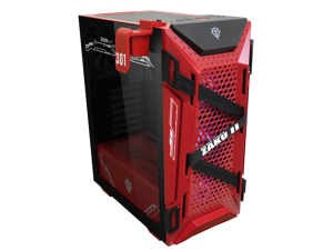 ASUS TUF GAMING GT301 ZAKU II EDITION ATX Zaku version case, tempered glass side panel, honeycomb hole front panel, pre-installed 120mm Shenguang synchronous ARGB fan, built-in headphone hanger, suppo