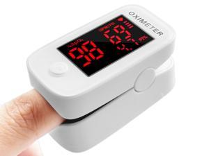 Oximeter Fingertip (Oximetro), Blood Oxygen Saturation Monitor, Heart Rate Monitor and SpO2 Levels, Portable Pulse Oximeter