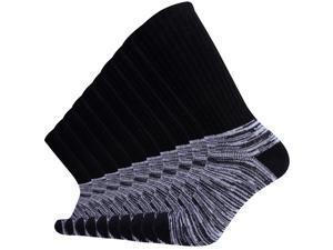 Enerwear 10P Pack Men's Cotton Thick Cushion Hiking Crew Boot Socks