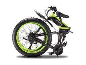 """Cyrusher Folding Electric Bike 1000W Motor 26"""" Fat Tire Ebike Lithium Battery Electric Mountain Bicycle for Adults XF690"""
