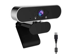 easyday 1080p Webcam, Live Streaming Camera with Stereo Microphone, Desktop or Laptop USB Webcam for Widescreen Video Calling and Recording
