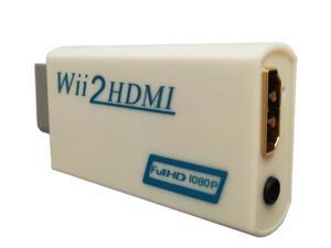 easyday Wii to HDMI Converter 1080P, Wii HDMI Adapter with 3,5mm Audio Jack&HDMI Output Supports All Wii Display Modes