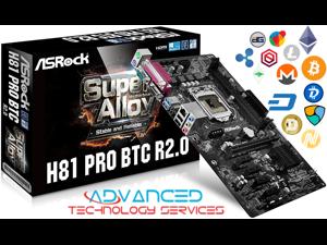 ASRock H81 PRO BTC R2.0 MINING MOTHERBOARD LGA 1150 Intel H81 HDMI SATA 6Gb/s USB 3.0 ATX CRYPTOCURRENCY MINING - SHIPS FROM USA