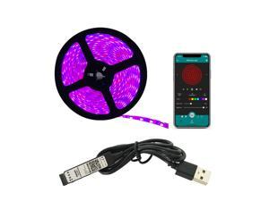 2M(6.56ft) RGB Strip Light 30LEDs/M App Control USB Powered LED Light Strip sync with music 16 million colors Waterproof kit
