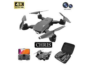Chris C189 Foldable Drone with 4K Dual Camera,,Auto Return Home, , Gravity sensing, Stunt roll, VR experience,50 Minutes Flight Time,UAV aerial photography 4K HD professi, Give away a battery