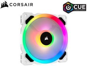 Corsair LL Series CO-9050091-WW LL120 RGB, 120mm Dual Light Loop RGB LED PWM Fan, Single Pack, White(Fans Only)