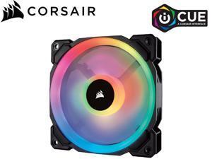 Corsair LL Series CO-9050091-WW LL120 RGB, 120mm Dual Light Loop RGB LED PWM Fan, Single Pack, Black(Fans Only)