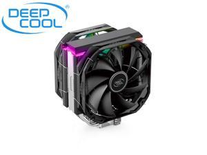 DEEPCOOL AS500 Plus CPU Air Cooler, CFD-AS500 Plus-220W Universal RAM Height Compatibility, 140mm PWM Fan, A-RGB Top Cover, 5 Heat Pipe Design for Intel Core/AMD Ryzen CPUs AS500 Plus