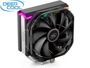 DEEPCOOL AS500 CPU Air Cooler, CFD-AS500-220W Universal RAM Height Compatibility, 140mm PWM Fan, A-RGB Top Cover, 5 Heat Pipe Design for Intel Core/AMD Ryzen CPUs