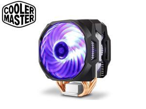 Cooler Master T610P 6 Heatpipe CPU Air Cooler Radiator Double 12cm RGB PWM Fan Support For I9 LGA 115x 2011 2066 AMD AM4 AM3, Sync with ASUS AURA MSI Mystic GIGABYTE Fusion ASrock RGB LED