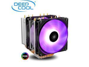 DEEPCOOL Neptwin V3 RGB CPU Cooler 6 Heatpipes Twin-Tower Heatsinks Dual 120mm PWM Silent LED Fans Constant Colorful Version, Suitable for high-end CPU air-Cooling
