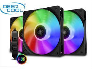 DEEPCOOL CF 120 (3 in 1) Super Silent PWM Intelligent Control Addressable RGB Fan Motherboard Sync A-RGB Controller High Performance