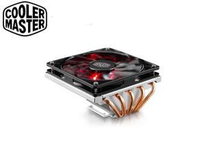 Cooler Master GeminII M5 LED - 2U Low Profile CPU Cooler with 5 Direct Contact Heatpipes & XtraFlo 120 Slim Fire Red LED PWM Cooling Fan for Intel AMD RR-T520-16PK (Blizzard T520)