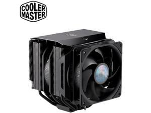 Cooler Master MasterAir MA624 Stealth CPU Air Cooler,Dual SickleFlow 140mm Fans, 6 Heat Pipes, Nickel Plated Base, Dual Tower Aluminum Matte Black Fins, Push-Pull, For AMD Ryzen/Intel 1200/1151