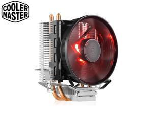 Cooler Master Blizzard T20  CPU Cooler 2 Copper Heatpipes 3pin 95.5mm,Quiet Red LED,For Intel 775 115X,AMD Socket AM4/AM3+/AM3/AM2+/AM2/FM2+/FM2/FM1