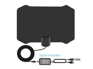 Digital Indoor Tv Antenna - Full HDTV Smart Amplified Antennas, Crystal Clear 1080P 4K Support, Powerful Amplifier Signal Booster, 55-130 Miles Range, Free Channels