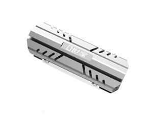 M.2 2280 SSD Heat Sink All-aluminum Solid State Disk Thermal Vest of Desktop PC (Color:grey)