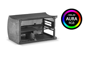 Comino OTTO SFF CASE, only Case for your air-cooled or AIO-based builds. Gaming Barbone Mini-PC. Includes: Chassis, Riser card and cables, RGB strips, Additional back panels, Basket for 4 SSDs.