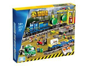 Cargo Train Remote Version Building Block Toy