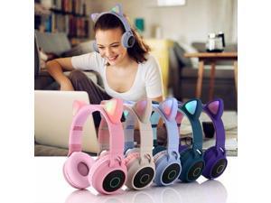 2019 Cat Ear Headphones LED Ear Headphone Cat Earphone Flashing Glowing Headset Gaming Earphones For Adult And Children