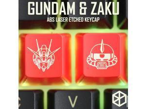 h Keycaps ABS Etched, Shine-Through STRIKE FREEDOM gundam zaku  black red custom mechanical keyboard esc r4