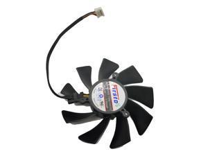 85MM FD9015U12S 4Pin Two Ball Bearing Cooling Fan For Sapphire HD 7770 7750 HD7970 Graphics Card Cooler Fan