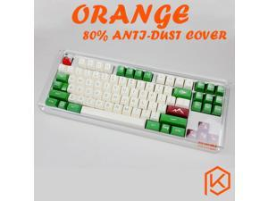 Acrylic Orange 80% dust cover anti dust guard cap for 80% mechanical keyboard such as 87 tkl wkl 87 xd87 ikbc ducky filco