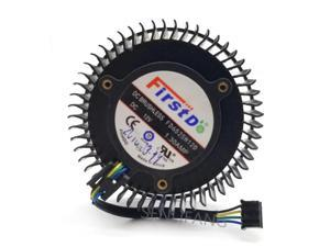 65mm 12V 1.3A 4 Pin Video Card Cooler Fan For AMD Radeon R9 270 270X Graphics Card Cooling Fan