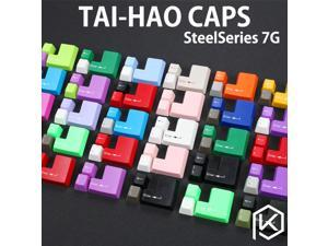 taihao abs double shot keycaps modifier for mechanical keyboard steelseries  7g white grey red green blue yellow  big ass enter