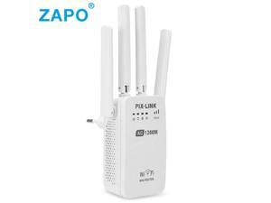 Dual Band AC 1200Mbps Wireless 2.4G / 5G Wifi Repeater 4 High Antennas Bridge Signal Amplifier Wired Router wi fi Access Point
