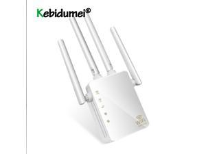 Repeater 1200Mbps Dual Band AC Wireless 2.4G/5G 4 High Antennas Bridge Signal Amplifier Wired Router Wi Fi Access Point