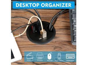 USB Desk Hub USB3.0 HUB With 4 Port USB3.0 Headphone/Mircophone Adapter For Desktop PC USB HUB Desk Mount USB 3.0 Splitter