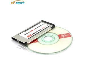 XT-XINTE PCI Express to USB 3.0 Dual 2 Ports PCI-E Express Card Adapter for NEC 34MM Slot ExpressCard Converter PCMCIA Laptop