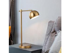 bedroom lamp bedside lamp American light luxury brass simple modern creative living room table lamp