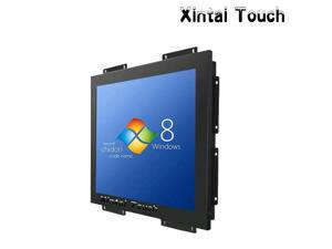 40PCS Metal material 15 industrial lcd open frame resistive touch screen monitor