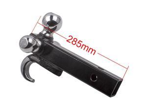 """1x 3 Ball Trailer Hitch Tow for 2"""" Receiver Mount w/ Hook 1 7/8"""" 2"""" 2 5/16"""" Black High Quality"""