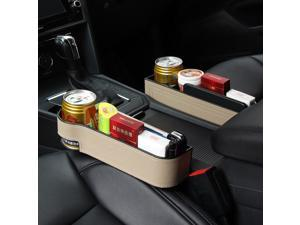 Seat Organizer Crevice Storage Box Accessories Interior Leather Phone Holder Storage Auto Accessoire Voiture     Organizador