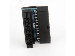 24Pin 90 degree 24-pin to 24-pin power plug adapter motherboard motherboard power connector modular chassis wiring routing