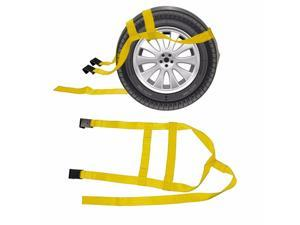 1Pair Car Basket Straps Adjustable Tow Dolly With Flat Hooks For Wheel Net Set Flat Hook Vehicle Accessories