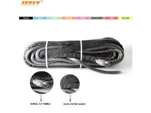 3.5mm*24m synthetic winch line rope with sheath and thimble for 4x4 4wd atv utv off-road
