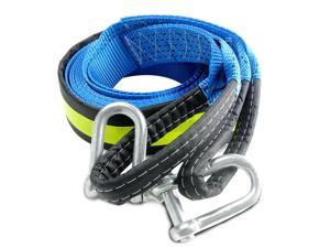 5M 8 Tons Winch Tow Cable Tow Strap Car Towing Rope With Hooks For Heavy Duty Car Emergency Off Road