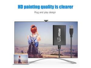 TV Tuner Card with Mic 1080P 60fps HDMI to USB 3.0 Game Imput Conveninently Simple Installation for Xbox PS3 PS4