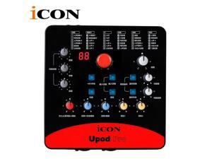 ICON upod pro Professional external sound card 2 mic-In/1 guitar-In, 2-Out  Recording Interface,Plug and play and no driver